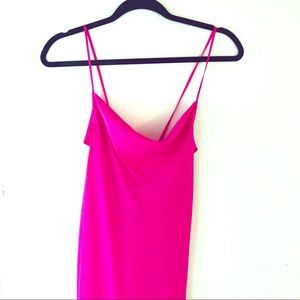 Summer hot pink slinky dress forever 21 date night